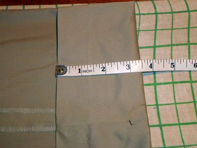 Sewing Pajama Bottoms - Measuring the hem