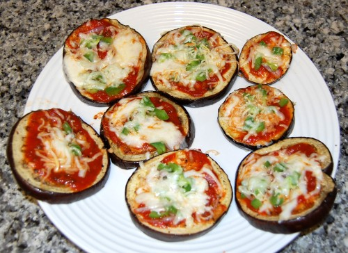 Eggplant mini-pizzas