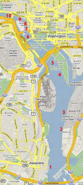 Navigating the Potomac River in Washington, D.C.Potomac River Map With States
