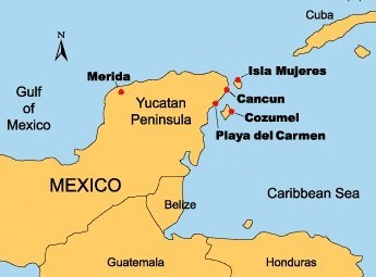 map of yucatan mexico travel