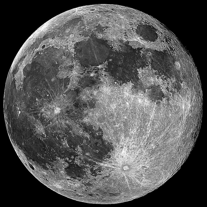 Moon Map Lunar Map with the names and locations of the Maria and