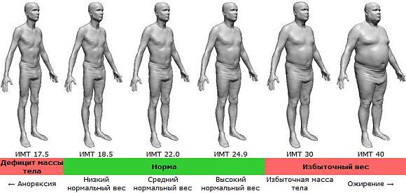 Индексу Массы Тела для мужчин