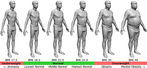 Body Mass Index for male