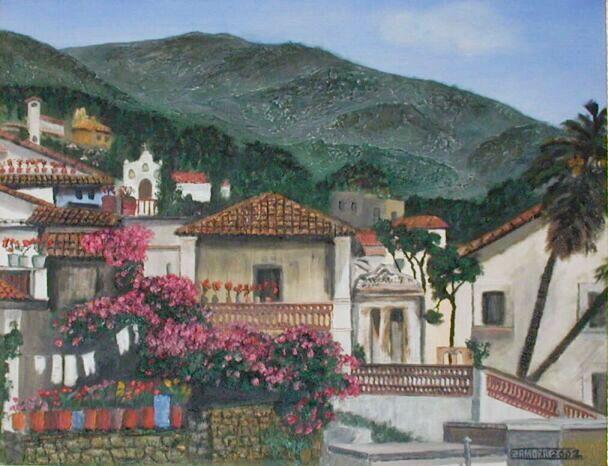 Paintings by Antonio Zamoramexico village